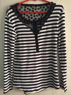 Lhaso: Dress (Black and white stripes)
