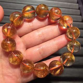 Natural Brazilian copper and titanium bracelet.