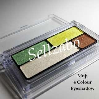 Used 4 Colours Muji Palette Eyes Shadow Eyeshadows Eyesshadows Set Makeup Cosmetics Beauty