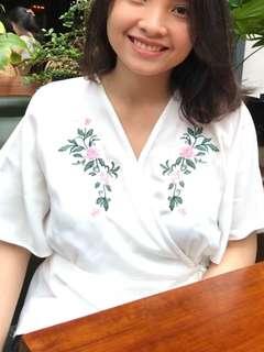 Flower White Kimono