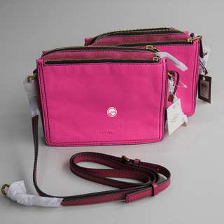 Fossil Campbell Crossbody Pink