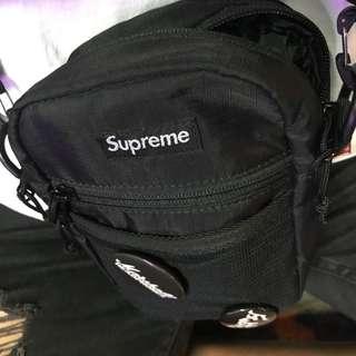 小藥頭包 supreme 黑 腰包 小背包 便宜出售