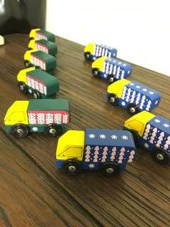積木火車 兒童積木玩具