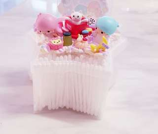 Decoden little twin stars cat-in -a-cup star star cotton bud container