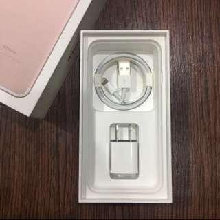 IPhone 7 配件 充電頭 傳輸線