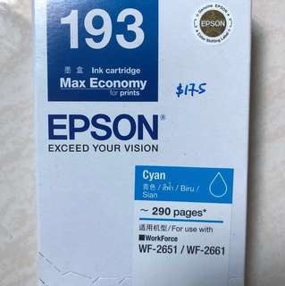 Final discount!!! Epson T193 Cyan cartridge