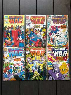 Marvel universe Infinity war issue 1-6 NM