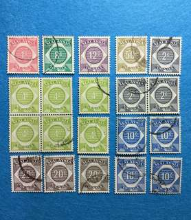 Malaysia Postage Due 20V Used Watermark Unchecked