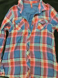 🚚 H&M plaid shirt 格子襯衫 古著˙