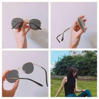 (二手)金屬邊框黑墨鏡