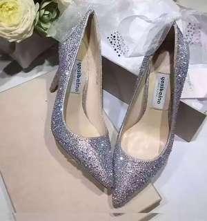 BNIB crystals wedding heels