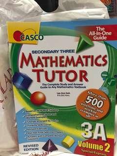 Sec 3 Mathematics Tutor Assessment Book