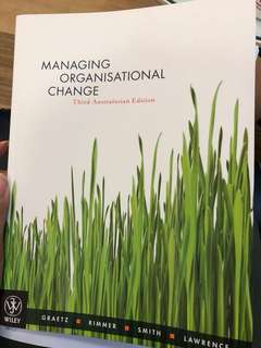 Murdoch BUS298 Managing Organisational Change