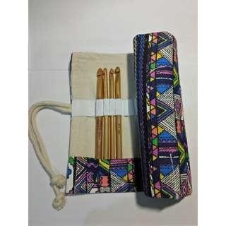 Canvass crochet hook case