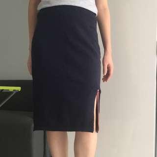 全新深藍色橡筋腰貼身針織裙  Navy Tight Knit Skirt