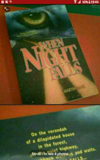 Supernatural Horror Singapore FICTION Local Novel book Local Novel Author Writer book singapore Horror Paranormal Ghost  When Night FALLS