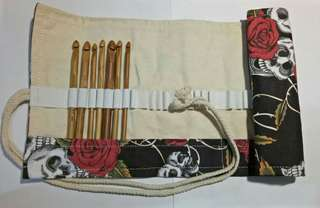 Canvass crochet hook case / organizer
