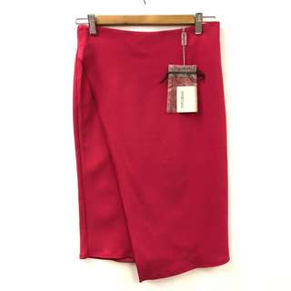 New Sportmax red skirt size F38