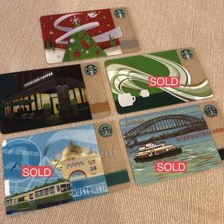 Assorted Starbucks cards (RM15-RM50 for each card)