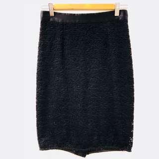 D&G black Lace Skirt size 40