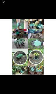 Rubber Polyester Builders Garden Work Latex Gloves