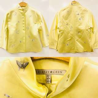 Shiatzy Chen light yellow emborderies jacket size F36
