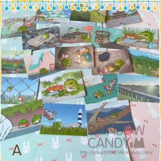Travel Frog photocard mini stickers A