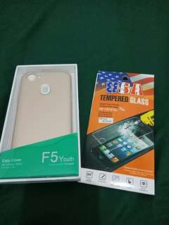 Easy cover dan tempered glass f5 youth