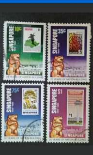 Singapore 1984 25th Years Of Nation-Building - 4v Used Stamps