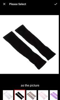 Arm sleeves with thumb hole