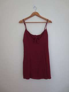 Universal Store Red Tie Dress Size 14