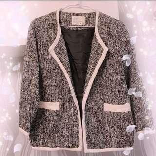 正韓 小香風OL西裝式外套