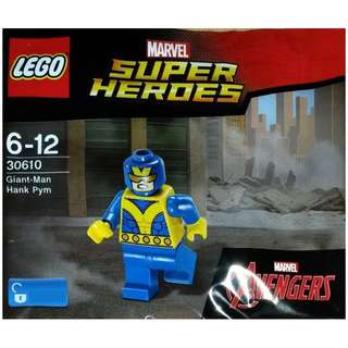 Leeogel [Free Postage] Lego Marvel Super Heroes 30610 Giant Man Giant-Man Hank Pym Polybag - New & Sealed