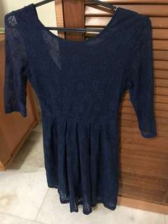 Agneselle Navy Blue lace dress