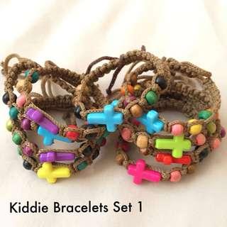Lot of Adjustable Bracelets for Kids Set 1