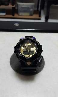 GShock Sports Gloss Black and Gold accent New arrival!