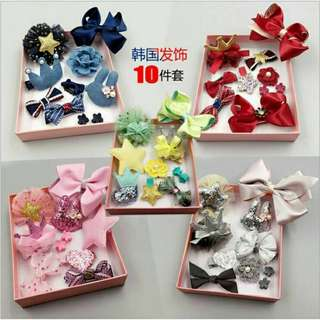 Children's hair accessories 儿童发饰(10 pieces)