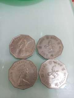 1978年十角5圓(每個)