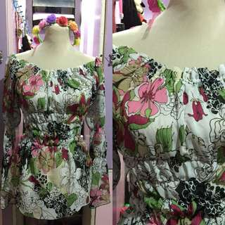Boho inspired floral off shoulders