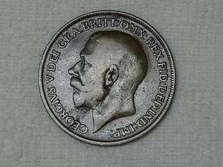 UK King George V 1920 One Penny