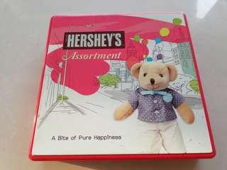 Hersheys chocolate empty tin rm5 NEW