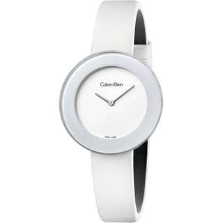 CHIC WHITE DIAL WHITE LEATHER STRAP LADIES' WATCH K7N23TK2