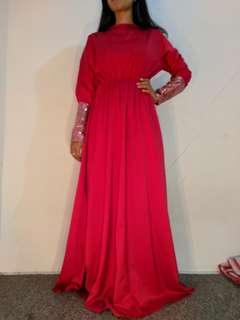Gamis merah preloved