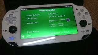 Ps vita 1k white colour wifi+3g (henkaku+enso)