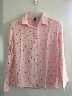 Peach Long Sleeves (preloved—used only once)