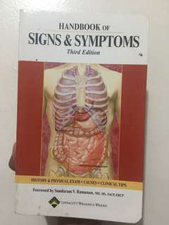 Handbook of signs and symptoms third edition