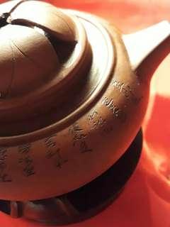 宜興茶壺古董收藏,真正茗壺茶杯有瑕疵。