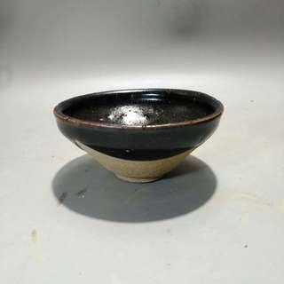 南宋烏金釉盞 寬10cm 高4.8cm 喝茶神器 文物 收藏