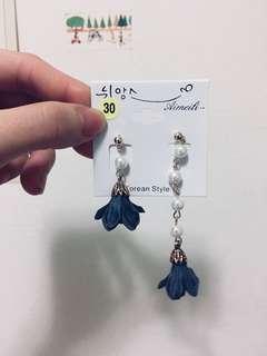 韓國 花朵耳環