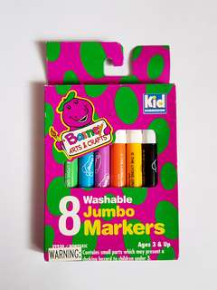 🆕️8PK Barney's Kids Jumbo Markers